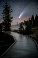 Comet Neowise with Yellowstone Boardwalk #2